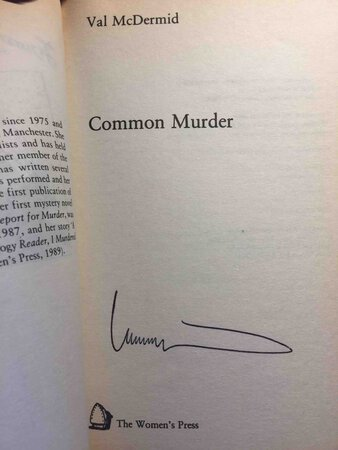 COMMON MURDER. by McDermid, Val.
