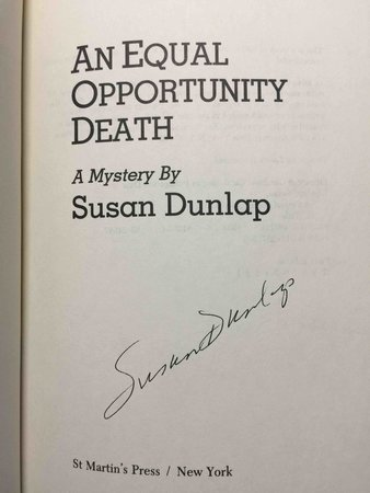 AN EQUAL OPPORTUNITY DEATH. by Dunlap, Susan