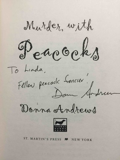 MURDER WITH PEACOCKS. by Andrews, Donna.