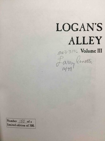LOGAN'S ALLEY: Amador County Yesterdays in Picture and Prose, Volume III. by Cenotto, Larry.