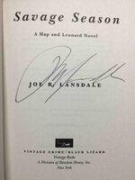 SAVAGE SEASON. by Lansdale, Joe.