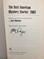 THE BEST AMERICAN MYSTERY STORIES 2007. by [Antholog-signed] Hiaasen, Carl, editor. Otto Penzler, series editor, signed.