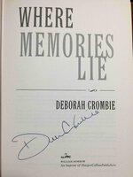 WHERE MEMORIES LIE. by Crombie, Deborah