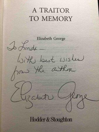 A TRAITOR TO MEMORY. by George, Elizabeth.