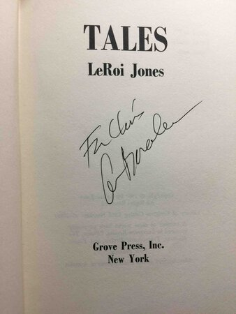 TALES. by Baraka, Amiri (Leroi Jones)