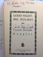 GOOD NIGHT, MR HOLMES. by Douglas, Carole Nelson.
