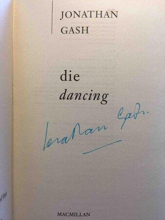 DIE DANCING. by Gash, Jonathan.