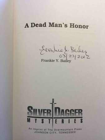 A DEAD MAN'S HONOR. by Bailey, Frankie Y.