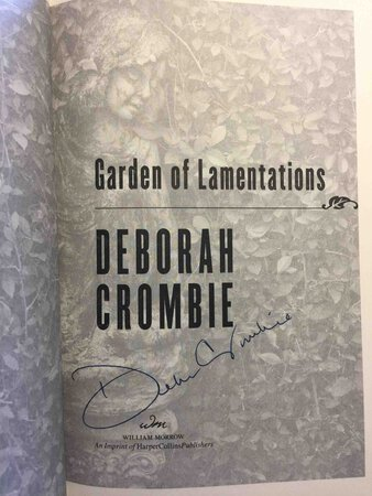 GARDEN OF LAMENTATIONS. by Crombie, Deborah