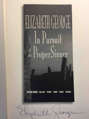 IN PURSUIT OF THE PROPER SINNER. by George, Elizabeth.
