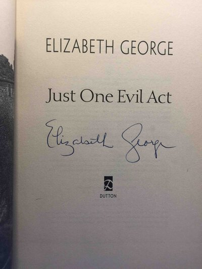 JUST ONE EVIL ACT. by George, Elizabeth.