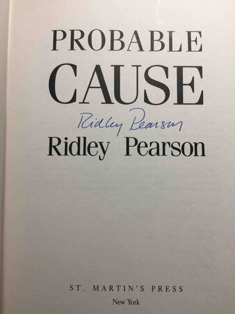 PROBABLE CAUSE. by Pearson, Ridley.