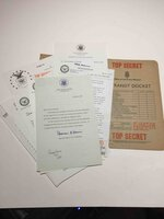 """AN EXPENSIVE PLACE TO DIE with """"Top Secret In Transit Docket."""" by Deighton, Len."""