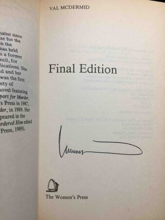 FINAL EDITION. by McDermid, Val.