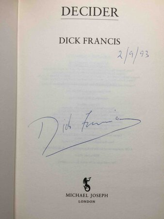 DECIDER. by Francis, Dick.