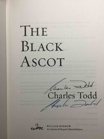 THE BLACK ASCOT. by Todd, Charles.
