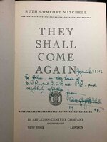 THEY SHALL COME AGAIN. by Mitchell, Ruth Comfort (1882Ð1954)