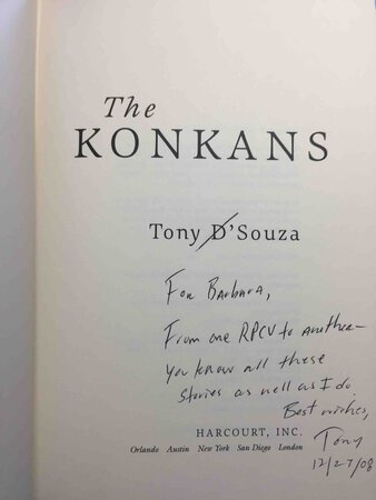 THE KONKANS. by D'Souza, Tony.