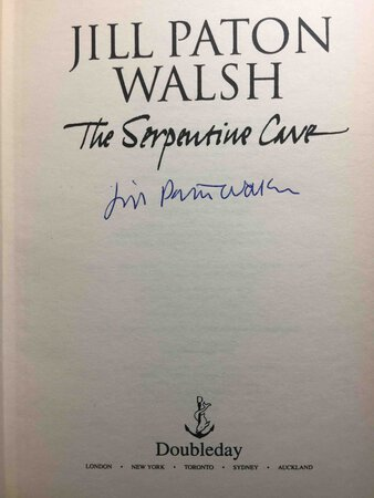 THE SERPENTINE CAVE. by Walsh, Jill Paton.