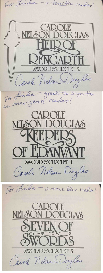 SWORD & CIRCLET TRILOGY: KEEPERS OF EDANVANT, HEIR OF RENGARTH, SEVEN OF SWORDS (3 books) by Douglas, Carole Nelson