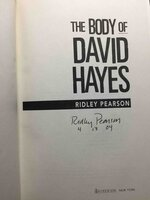 THE BODY OF DAVID HAYES. by Pearson, Ridley.