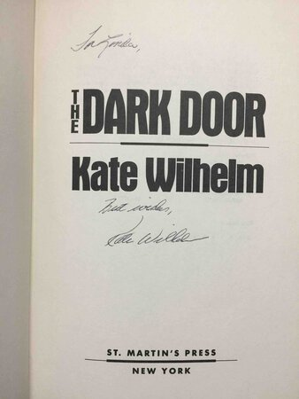 THE DARK DOOR: A Science Fiction novel. by Wilhelm, Kate.