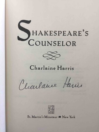 SHAKESPEARE'S COUNSELOR. by Harris, Charlaine.