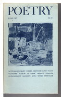 POETRY, Volume 150 (CL) Number 3, June 1987. by Parisi, Joseph, editor. Gary Soto, Jane Kenyon and others, contributors.