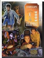 STARSCAPE 2002: The Journey Begins Now. Folder with promotional material. by Card, Orson Scott; Joan Aiken, Robert Jordan, Steven Gould, Jane Yolen and others.