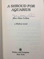 A SHROUD FOR AQUARIUS: A Mallory Novel. by Collins, Max Allan.