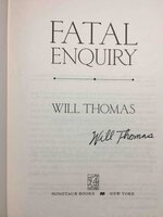 FATAL ENQUIRY. by Thomas, Will.