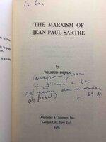 THE MARXISM OF JEAN-PAUL SARTRE. by [Sartre, Jean-Paul] Desan, Wilfrid.