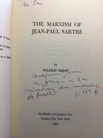 THE MARXISM OF JEAN-PAUL SARTRE. by [Sartre, Jean-Paul] Desan, Wilfrid.