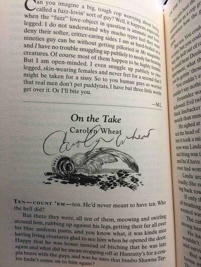 MIDNIGHT LOUIE'S PET DETECTIVES. by [Anthology, signed] Douglas, Carole Nelson, editor. Anne Perry, J. A. Jance, Carolyn Wheat, signed.