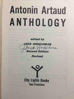 ARTAUD ANTHOLOGY. by [Artaud, Antonin, 1896 - 1948] Hirschman, Jack, editor