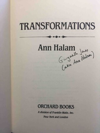 TRANSFORMATIONS. by Halam, Ann (aka Gwyneth Jones.)