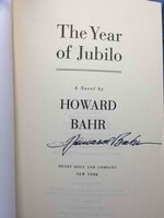THE YEAR OF JUBILO: A Novel of the Civil War. by Bahr, Howard.