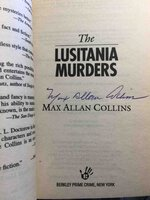 THE LUSITANIA MURDERS. by Collins, Max Allan.