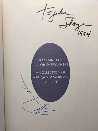 IN SEARCH OF COLOR EVERYWHERE, a Collection of African-American Poetry. by (Anthology, signed) Miller, E. Ethelbert, editor, Alice Walker, Ntozake Shange, Michelle Clinton and others, signed.