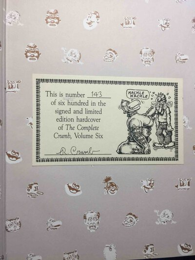 THE COMPLETE CRUMB COMICS: Volume 6, On the Crest of a Wave. by Crumb, Robert; Robert Boyd and Gary Groth, editors.