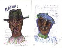 """PLAY ON!"" and ""BEAUTIFUL"" (Painted Poems) by Baraka, Amiri (LeRoi Jones)"
