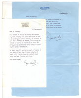TWO TYPED LETTERS, SIGNED, by the author of 'The Saint' series. by Charteris, Leslie.