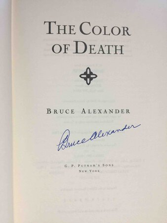 COLOR OF DEATH. by Alexander, Bruce (Bruce Cook, 1923-2003)