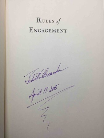 RULES OF ENGAGEMENT. by Alexander, Bruce (Bruce Cook, 1923-2003), with Judith Alexander and John Shannon.