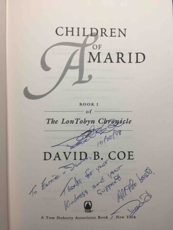 CHILDREN OF AMARID: Book I of the Lon Tobyn Chronicle. by Coe, David B.