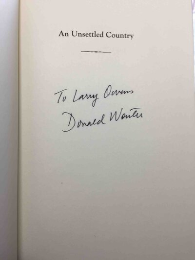 AN UNSETTLED COUNTRY: Changing Landscapes of the American West. by Worster, Donald.