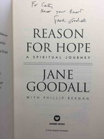 REASON FOR HOPE: A Spiritual Journey. by Goodall, Jane with Philip Berman.