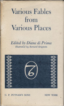 VARIOUS FABLES FROM VARIOUS PLACES. by Di Prima, Diane, editor. Illustrated by Bernard Krigstein.