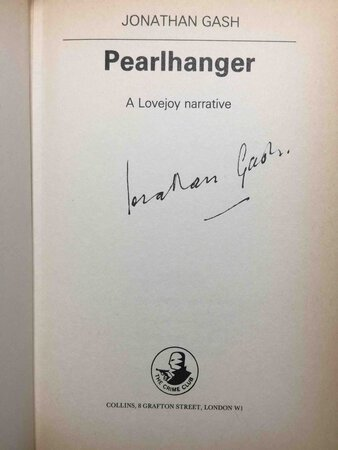 PEARLHANGER: A Lovejoy Narrative. by Gash, Jonathan.