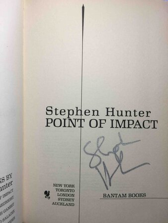 POINT OF IMPACT by Hunter, Stephen
